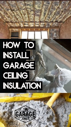 How to Install Garage Ceiling Insulation - You considering on installing garage ceiling insulation but are not sure how to go about it? We discuss different types of insulation you might use for your garage ceiling and how you would install each type of garage ceiling insulation.