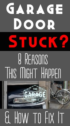 Garage Door Stuck? 8 Reasons This Might Happen & How to Fix it - Nothing is worse than getting home after a long day of work and having your garage door opener do nothing as your car idles in the driveway. Checked the batteries and still nothing? Read on for some trouble-shooting tips.