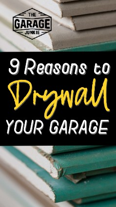 """9 Reasons to Drywall Your Garage - Beyond giving your space a """"finished look,"""" drywall can also add structural integrity to your walls, add a level of fire safety to your home, assist with sound and temperature control, and reduce utility costs. It can also increase your garage's overall cleanliness, improve airflow, and overall make your garage a brighter space to work in."""
